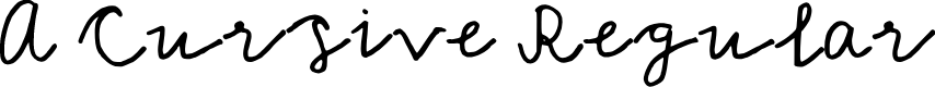 Preview image for A Cursive Regular Font
