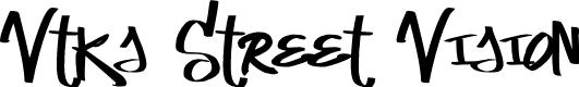 Preview image for Vtks Street Vision Font