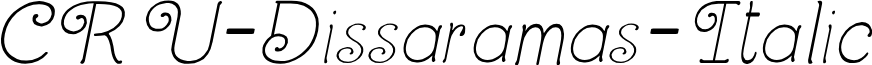 CRU-Dissaramas-Italic