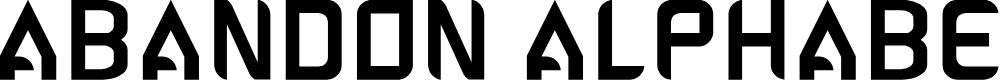 Preview image for ABANDON ALPHABETA Font