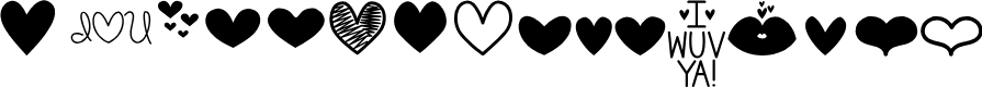 Preview image for MF Love Dings Font