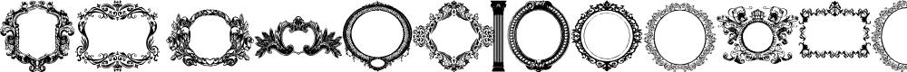 Preview image for Vintage Frames Font