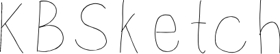 Preview image for KBSketch Font