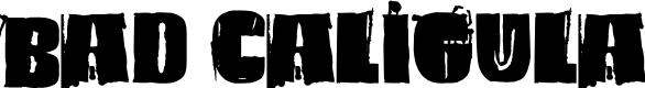 Preview image for Bad Caligula Font