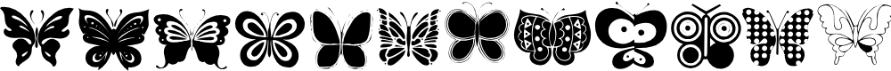 Preview image for Butterflies Font