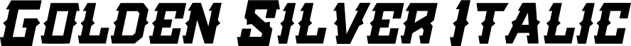 Golden Silver Italic