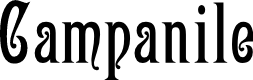 Preview image for Campanile Font