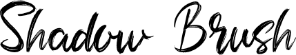 Preview image for Shadow Brush Font