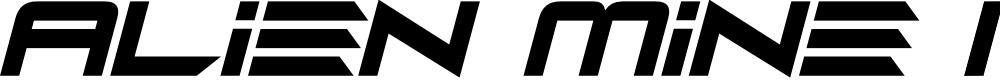 Preview image for Alien Mine Italic