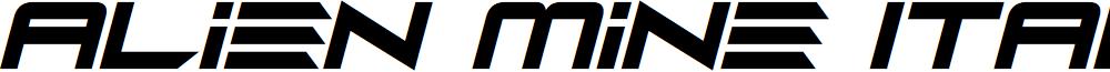 Alien Mine Italic font
