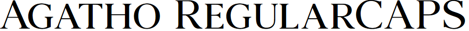 Agatho RegularCAPS