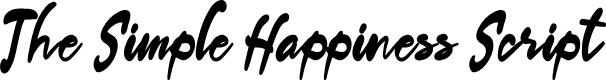 Preview image for The Simple Happiness Script Font