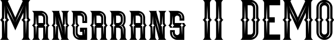 Preview image for Mangarans II DEMO Font