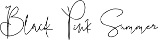 Preview image for Black Pink Summer Font