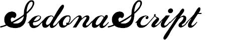 Preview image for SedonaScriptFLF Font