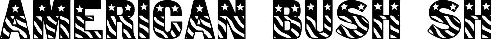 Preview image for American Bush Shame Font