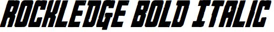 Rockledge Bold Italic