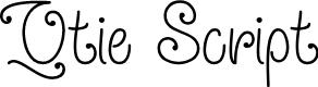 Preview image for Qtie Script Regular Font