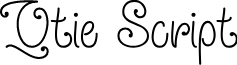 Qtie Script Regular