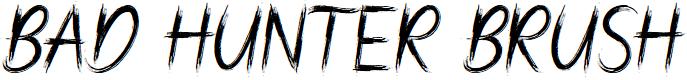 Preview image for Bad Hunter Brush Font