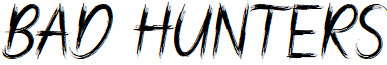 Bad Hunter Brush font
