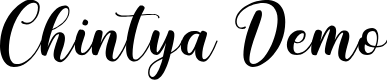 Preview image for Chintya Demo Font