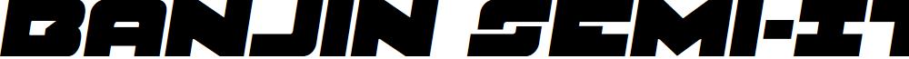 Banjin Semi-Italic