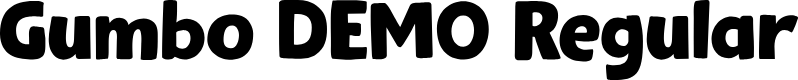 Preview image for Gumbo DEMO Regular Font