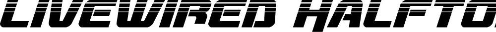 Livewired Halftone Italic