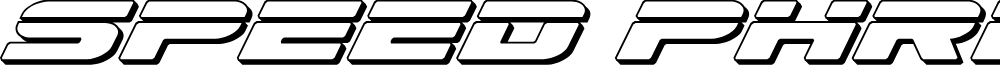 Speed Phreak 3D Italic