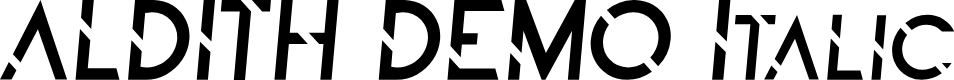 Preview image for ALDITH DEMO Italic