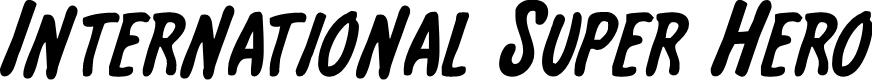 Preview image for International Super Hero Font