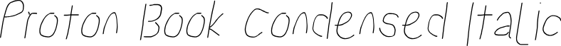 Proton Book Condensed Italic