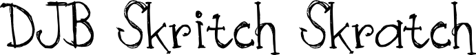 Preview image for DJB Skritch Skratch Font