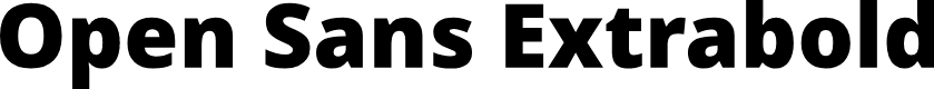 Preview image for Open Sans Extrabold
