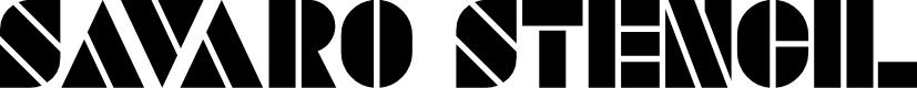 Preview image for SAVARO STENCIL Font