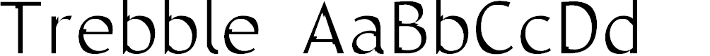 Preview image for Trebble Font
