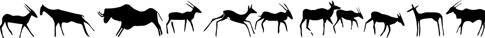 Preview image for Afrika RockArt F Animals1 Regular Font