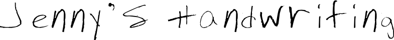 Preview image for Jenny's Handwriting Font