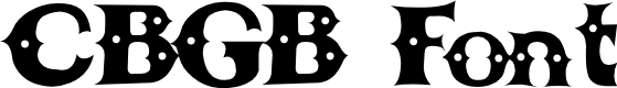 Preview image for CBGBFont