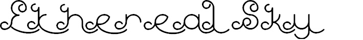 Preview image for Ethereal Sky Font