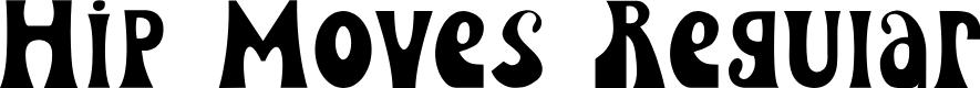 Preview image for Hip Moves Regular Font