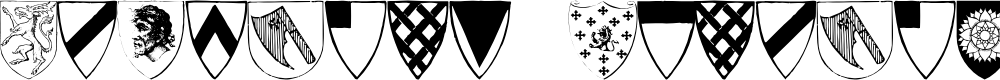 Preview image for Heraldic Shields Font