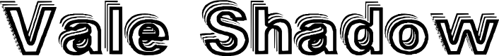 Preview image for Vale Shadow Font