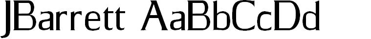 Preview image for JBarrett Normal Font