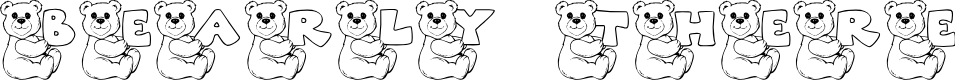Preview image for JLR Bearly There Font