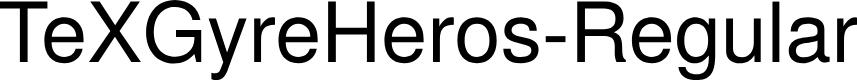 Preview image for TeXGyreHeros-Regular