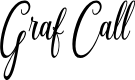 Preview image for Graf Call free Regular Font