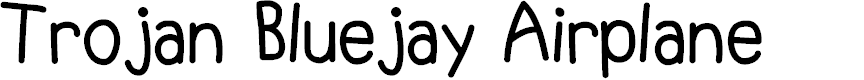 Preview image for Trojan Bluejay Airplane Font