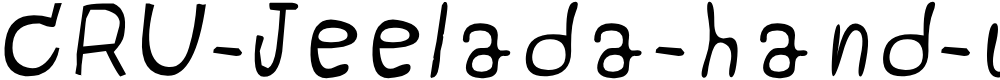 Preview image for CRU-Jeelada-hand-written Italic